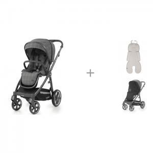 Прогулочная коляска  3 12204 с матрасиком Leokid Newborn Cotton и москитной сеткой Oyster