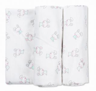 Пеленка  для новорожденных фланелевая Тренды Зайчики 2 шт. Чудо-чадо