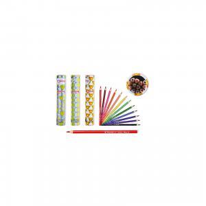 Цветные карандаши в тубе, 12 цветов (дизайн ассортименте) Schreiber