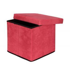 Пуф складной с ящиком для хранения, цвет: коралловый El Casa