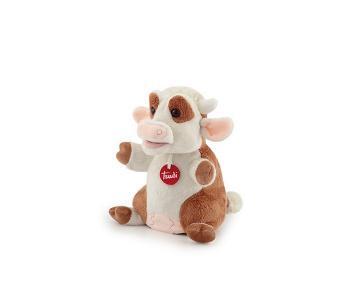 Мягкая игрушка на руку Коровка 18x24x17 см Trudi