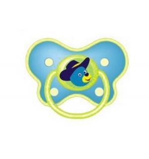 Пустышка  Бабочка Симметричная силикон, с 6 мес, цвет: голубой Бусинка