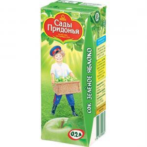 Сок  зеленое яблоко, 200 мл Сады Придонья