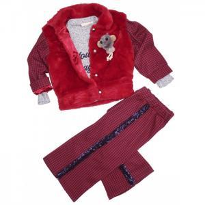 Комплект для девочки (жакет, лонгслив, брюки) 3254 Baby Rose
