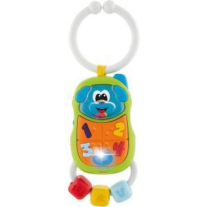 Игрушка-погремушка Chicco Телефончик (свет, звук)