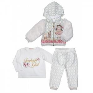 Комплект для девочки (жакет, лонгслив, брюки) 3271 Baby Rose