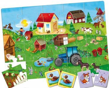 Игра развивающая настольная Ферма 3 в 1 Ludattica
