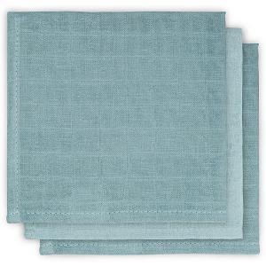 Салфетки для лица Jollein, 3 шт (Серо-зеленый) jollein. Цвет: серый деним
