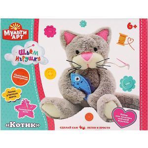 Набор для детского творчества MultiArt Сделай плюшевую игрушку. Котик. Цвет: разноцветный