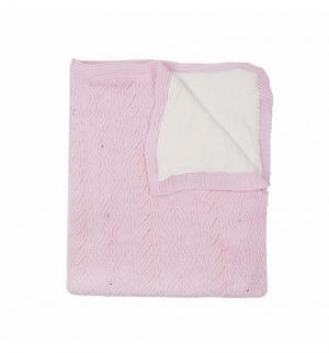 Плед  Стразы 95 х 115 см, цвет: розовый Sansli