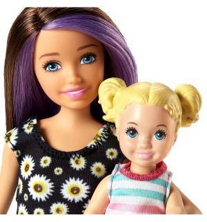 Игровой набор  Няня шатенка, платье с ромашками Barbie