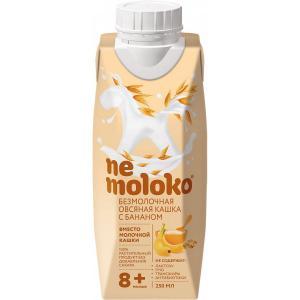 Каша  безмолочная овсяная с бананом 8 месяцев 250 мл Nemoloko