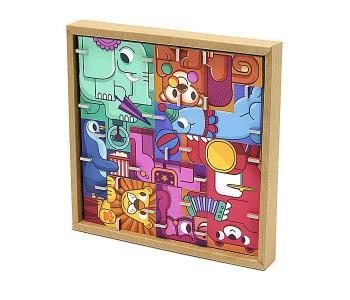 Игрушки из картона: 3D пазл - головоломка Цирк Krooom
