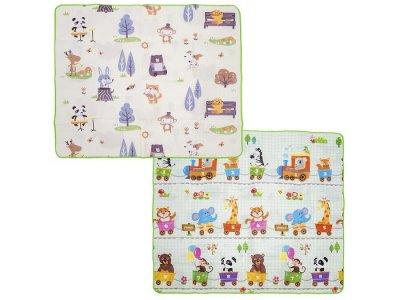 Игровой коврик  Музыкальные животные и Дружный паровозик-счет 200х180х0.5 см BabyPol