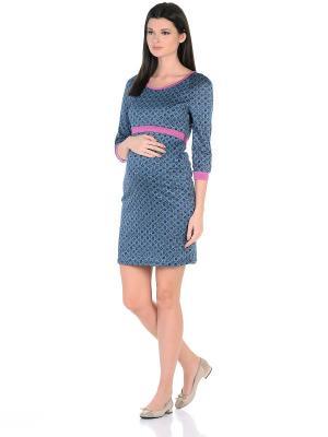 Платье для кормления, цвет: голубой/розовый 40 Недель