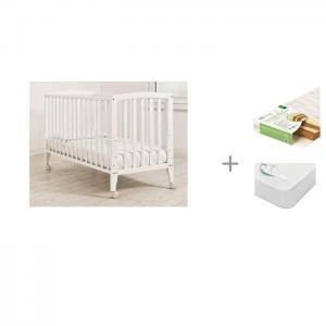 Детская кроватка  Бьянка с матрасом Плитекс Bamboo Nature и наматрасником Sweet Baby SB-K013 Angela Bella