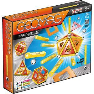 Магнитный конструктор  Panels, 50 деталей Geomag. Цвет: оранжевый