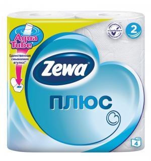 Туалетная бумага для ежедневной гигиены  Plus, 4 шт Zewa