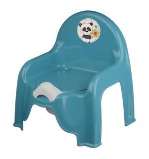 Горшок-стульчик  Панда, цвет: голубой М-Пластика