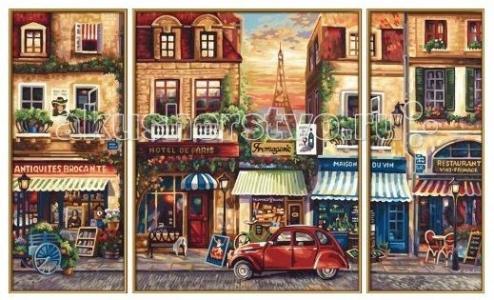 Картина по номерам Триптих Париж 50х80 см Schipper