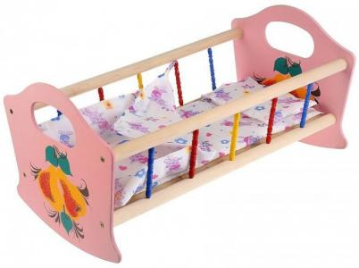 Кроватка для куклы  54 см К-02 Russia
