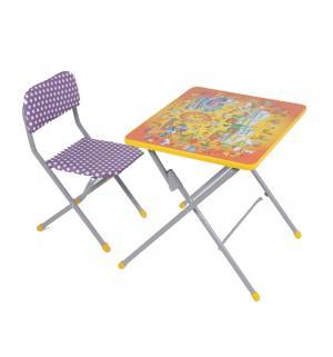 Комплект детской мебели  Досуг № 201 Алфавит, цвет: оранжевый Фея