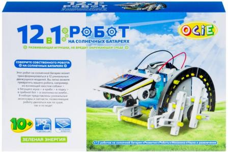 Конструктор  Набор 12 в 1: Робот на солнечных батареях OTC0874617 Ocie