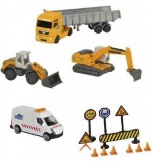 Игровой набор  Строительная техника с дорожными знаками от 3 см до 13 Majorette