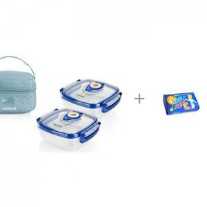 Термосумка Pack-2-Go Hermisized с 2 контейнерами и Мыло Свобода Тик-так 150 г Miniland