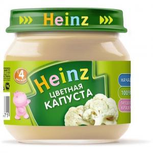 Пюре  цветная капуста с 4 месяцев, 80 г Heinz