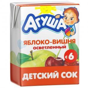 Сок  яблоко-вишня, 200 мл Агуша