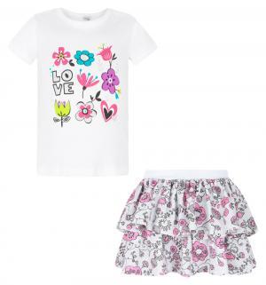 Комплект футболка/юбка  Rozalia, цвет: белый Koala