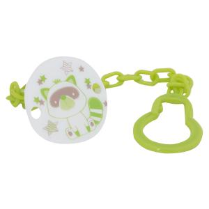 Прищепка  С цепочкой, цвет: зеленый Ням-Ням