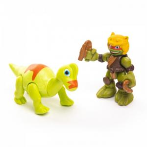Фигурка Дино Майк с Брахиозавром Playmates TMNT