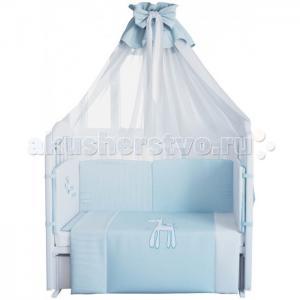 Комплект в кроватку  Жирафик 120х60 (7 предметов) Fairy