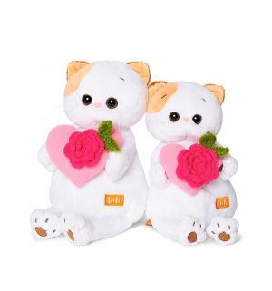 Мягкая игрушка  Кошечка Ли-Ли с розовым сердечком 27 см Basik&Ko