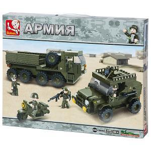 Конструктор  Армия: Тайный десант, 455 деталей Sluban. Цвет: разноцветный