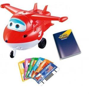 Интерактивная игрушка  Джетт с пластиковыми карточками 16.5 см Super Wings