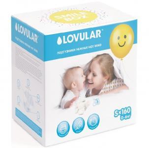 New Smile Box Подгузники Hot Wind S (0-6 кг) 160 шт. Lovular