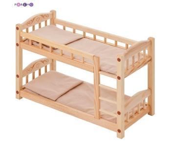 Двухъярусная кроватка для кукол Paremo