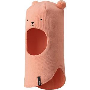 Шапка-шлем  для девочки Lassie. Цвет: оранжевый