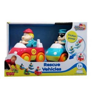 Набор машинок  Пожарная и скорая помощь 9 см Happy Kid