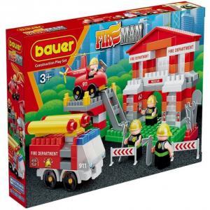 Конструктор  Fireman Пожарная часть (164 элемента) Bauer