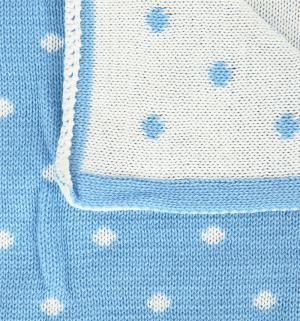 Плед, цвет: белый/голубой Baby Street