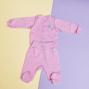 Комплект Розовый меланж (кофточка и штанишки) Pecorella