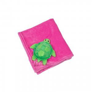 Одеяло с игрушкой Черепашка, , розовый Zoocchini