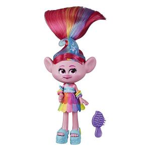 Кукла Trolls World Tour Делюкс Розочка Hasbro. Цвет: разноцветный