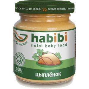 Пюре  Халяль цыпленок с 6 месяцев, 100 г Habibi