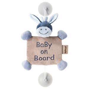 Знак Baby on board Alex & Bibou Ослик Nattou