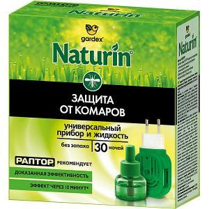 Комплект  Naturin : универсальный прибор + жидкость от комаров без запаха, 30 ночей Gardex